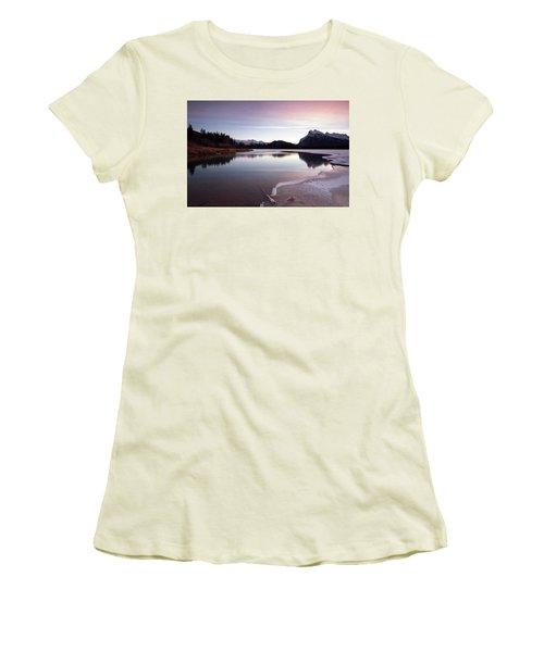 Vermillion Ice Break Women's T-Shirt (Athletic Fit)