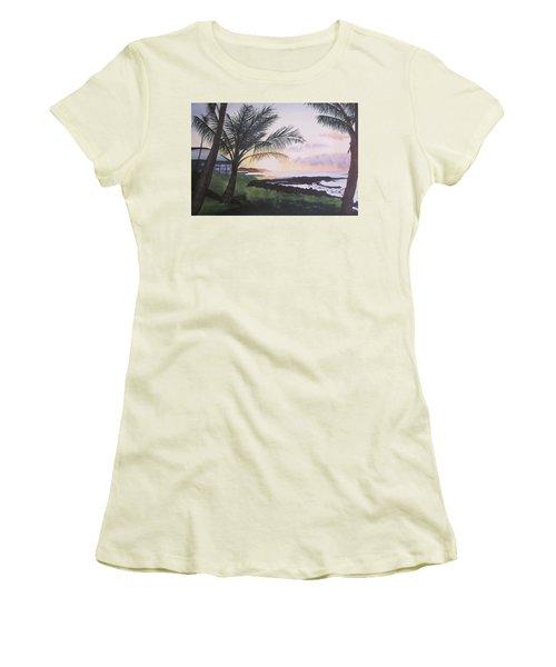 Women's T-Shirt (Junior Cut) featuring the painting Version 2 by Teresa Beyer
