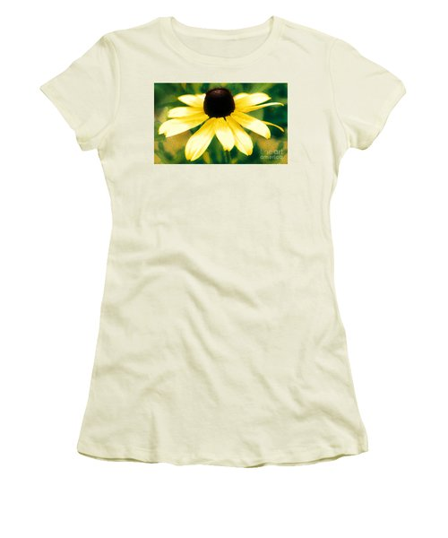Vibrant Yellow Coneflower Women's T-Shirt (Athletic Fit)