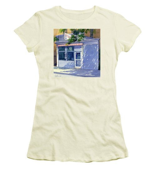 Vic's Barbershop Women's T-Shirt (Athletic Fit)
