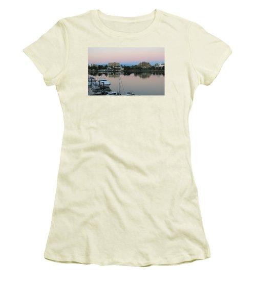 Victoria Harbor Dawn Women's T-Shirt (Junior Cut) by Betty Buller Whitehead