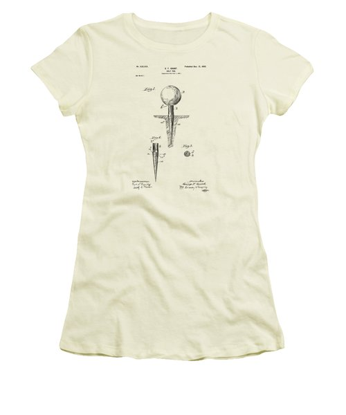 Vintage 1899 Golf Tee Patent Artwork Women's T-Shirt (Athletic Fit)