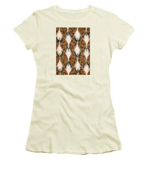 Vintage Japanese Illustration Of Cranes Flying Women's T-Shirt (Athletic Fit)