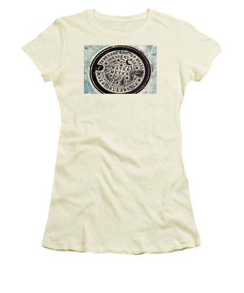 Vintage New Orleans Water Meter Women's T-Shirt (Athletic Fit)