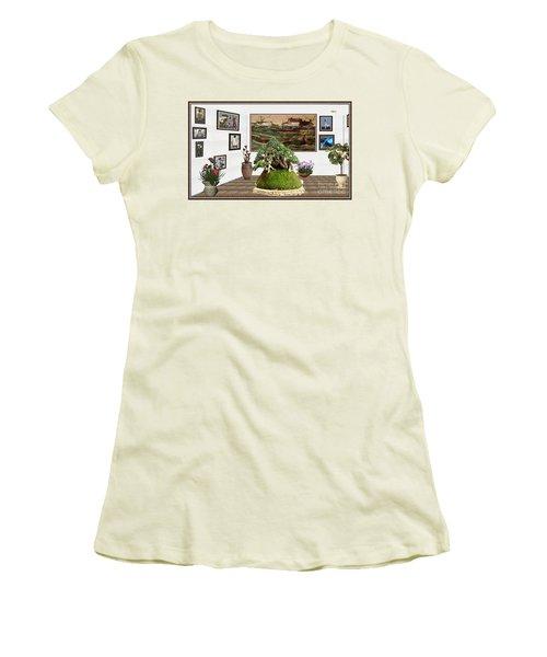 Virtual Exhibition -  Bonsai Palm 17 Women's T-Shirt (Junior Cut) by Pemaro