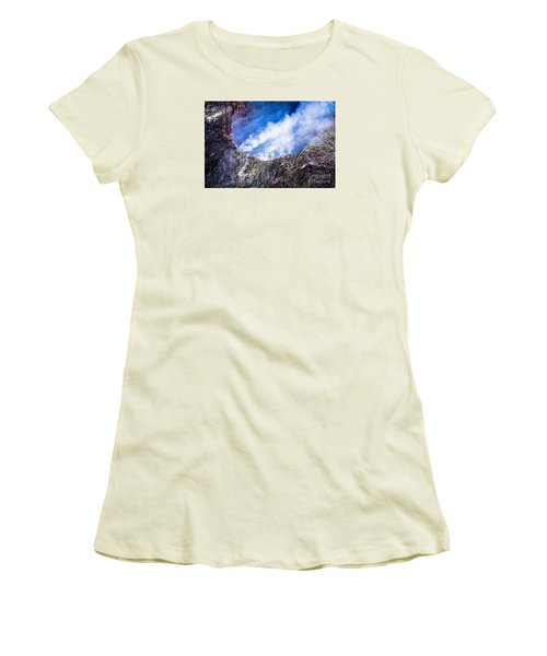 Women's T-Shirt (Junior Cut) featuring the photograph Volcano by M G Whittingham