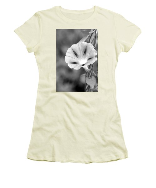 Women's T-Shirt (Athletic Fit) featuring the photograph Wait For The Sun To Rise In The Morning by Vadim Levin