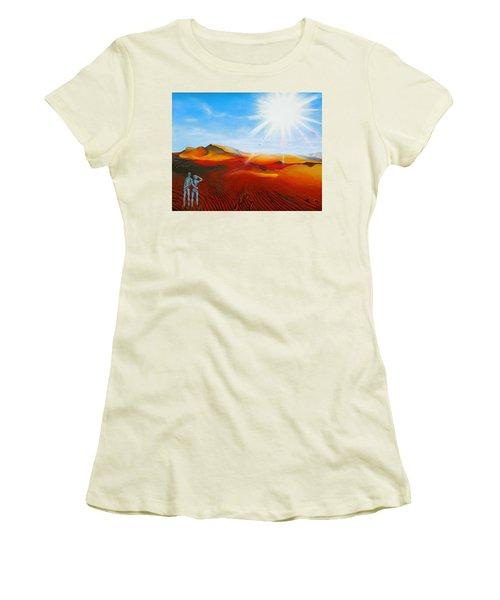 Walk A Mile Women's T-Shirt (Athletic Fit)
