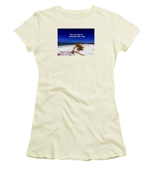 Walk In The Sand Women's T-Shirt (Athletic Fit)