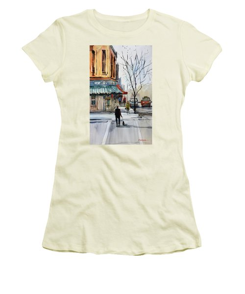 Walking The Dog Women's T-Shirt (Athletic Fit)