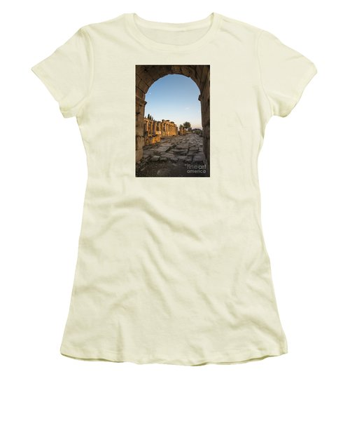 Walking The History In Hierapolis Women's T-Shirt (Junior Cut) by Yuri Santin