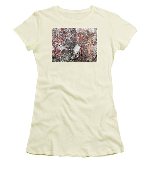 Wall Abstract 103 Women's T-Shirt (Junior Cut) by Maria Huntley