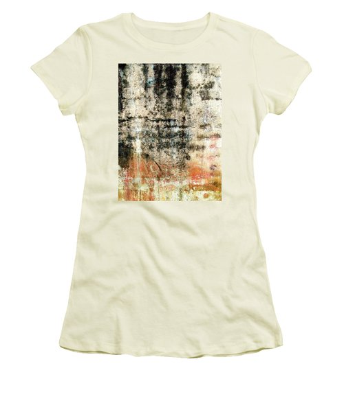 Women's T-Shirt (Junior Cut) featuring the photograph Wall Abstract 182 by Maria Huntley