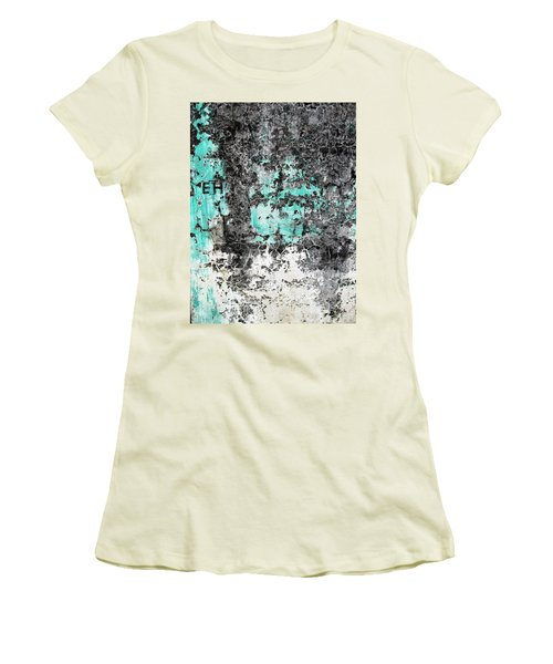 Women's T-Shirt (Junior Cut) featuring the photograph Wall Abstract 185 by Maria Huntley
