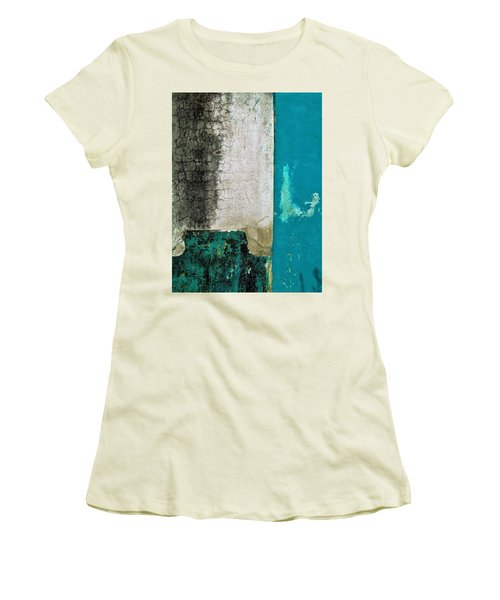 Women's T-Shirt (Junior Cut) featuring the photograph Wall Abstract 296 by Maria Huntley