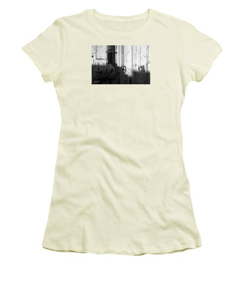 Wall Pipe Shadows Women's T-Shirt (Junior Cut) by Catherine Lau
