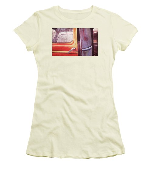Women's T-Shirt (Junior Cut) featuring the painting Walter by Laurie Stewart