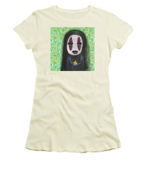Want Gold Women's T-Shirt (Junior Cut) by Abril Andrade Griffith