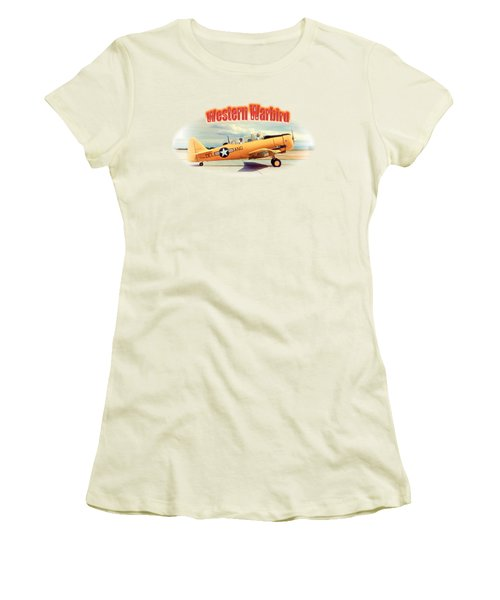 Warbird Touchdown Women's T-Shirt (Junior Cut) by Richard Farrington