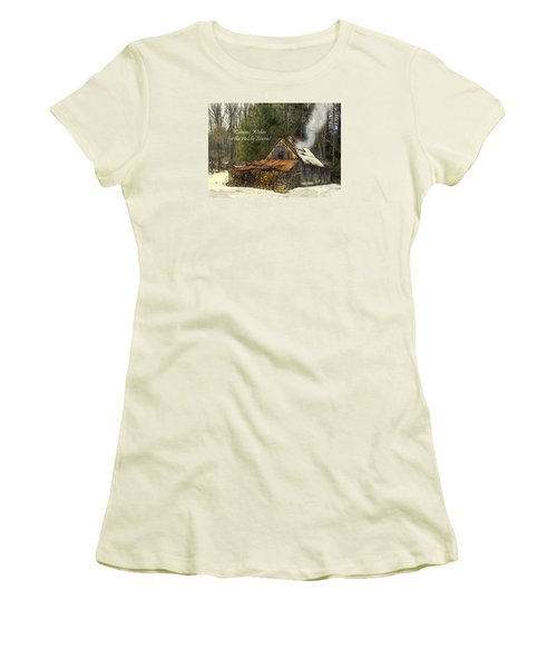 Women's T-Shirt (Junior Cut) featuring the photograph Warmest Wishes For The Holiday Season Greeting Card by Betty Denise