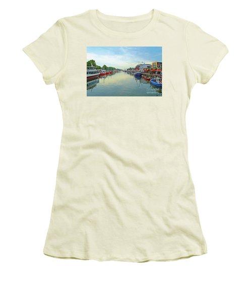 Warnemunde Germany Port Women's T-Shirt (Junior Cut) by Eva Kaufman
