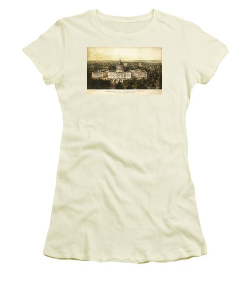 Washington City 1857 Women's T-Shirt (Junior Cut) by Jon Neidert
