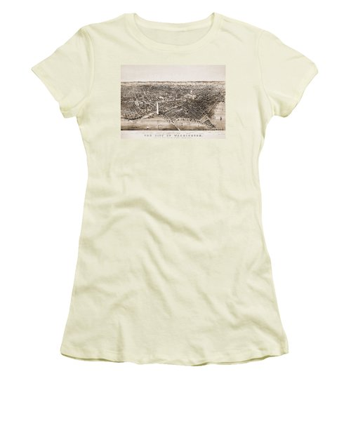 Washington D.c., 1892 Women's T-Shirt (Junior Cut) by Granger