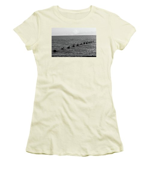 Water Birds Women's T-Shirt (Athletic Fit)
