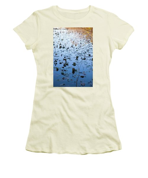 Water Lilies Autumn Song Women's T-Shirt (Athletic Fit)