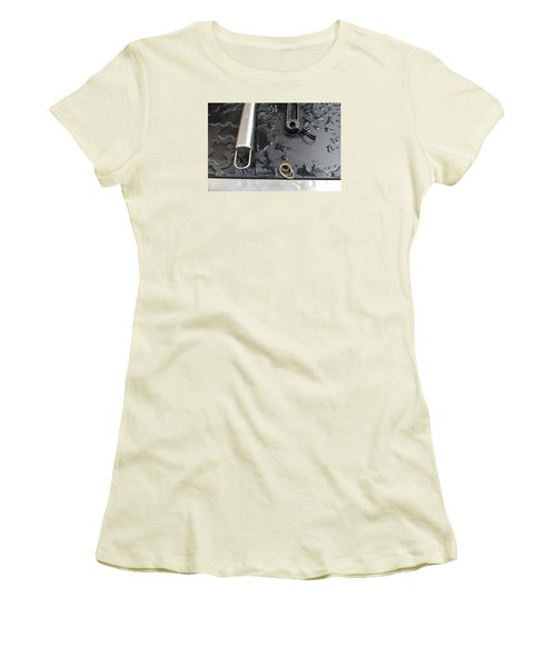 Women's T-Shirt (Junior Cut) featuring the photograph Water On The Bbq  by Lyle Crump