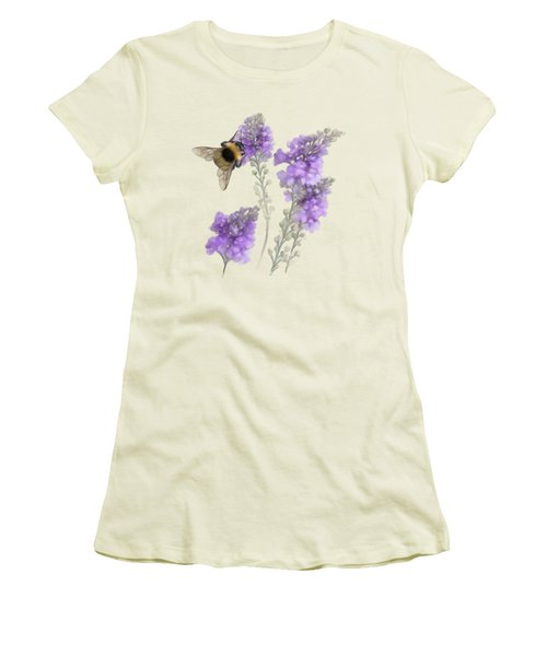 Watercolor Bumble Bee Women's T-Shirt (Athletic Fit)