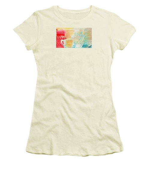 Watercolor Glassware Women's T-Shirt (Athletic Fit)