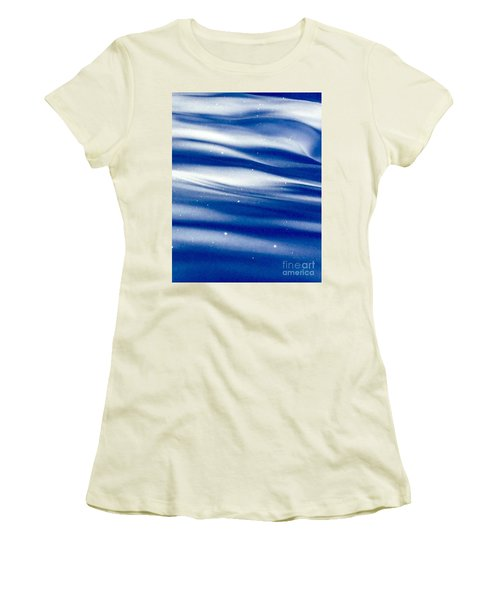 Waves Of Diamonds Women's T-Shirt (Junior Cut) by Jennifer Lake