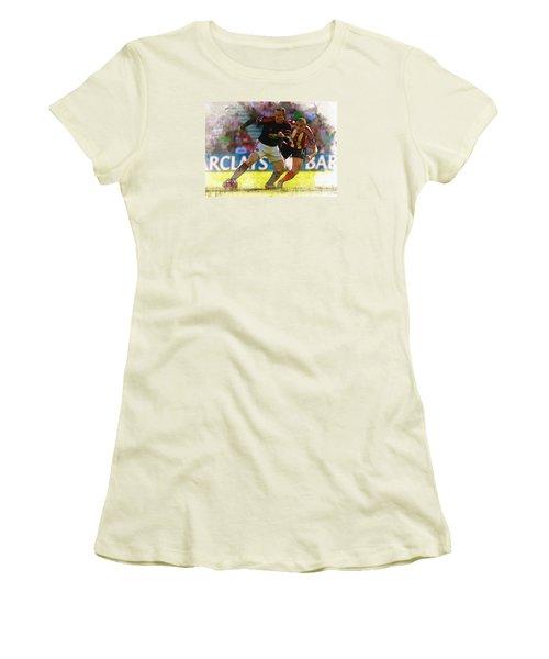 Wayne Rooney Is Marshalled Women's T-Shirt (Junior Cut) by Don Kuing