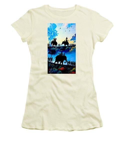 We March At Sunrise  Women's T-Shirt (Junior Cut) by Ian Gledhill