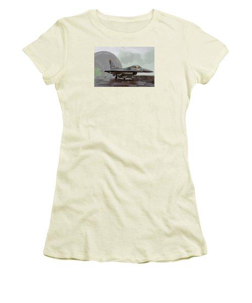Women's T-Shirt (Junior Cut) featuring the digital art Weather Day by Walter Chamberlain