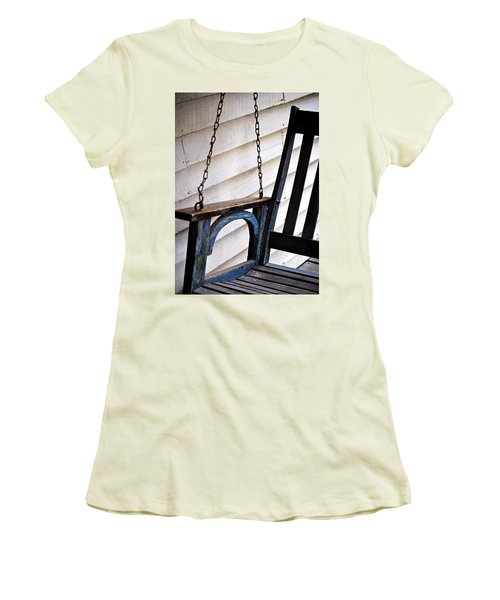 Weathered Porch Swing Women's T-Shirt (Athletic Fit)