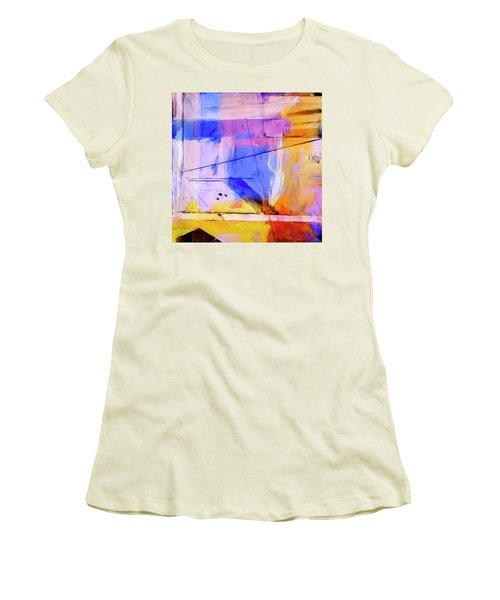 Women's T-Shirt (Junior Cut) featuring the painting Welder by Dominic Piperata