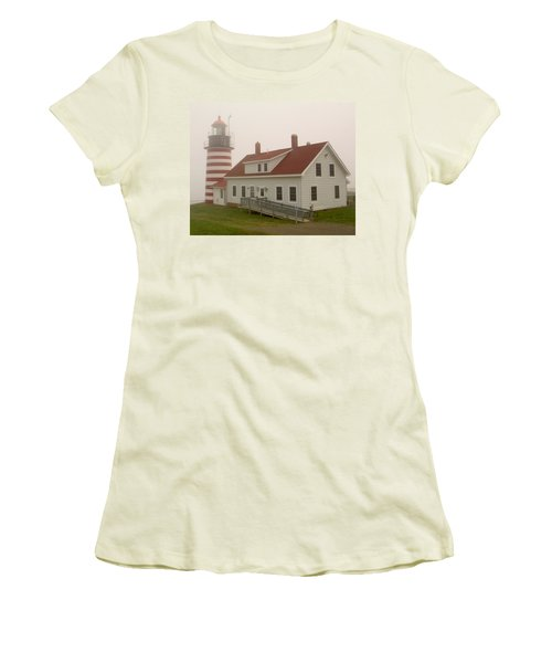 West Quoddy In Fog Women's T-Shirt (Athletic Fit)