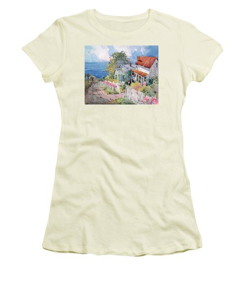 Westport By The Sea Women's T-Shirt (Junior Cut) by Joyce Hicks