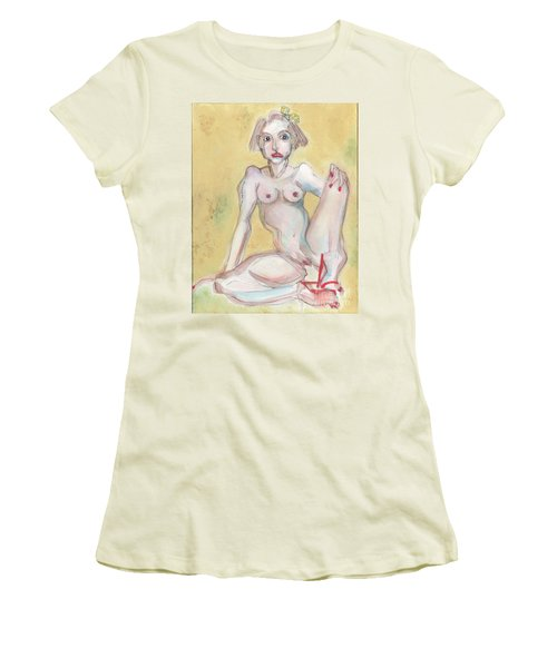 What It Was Really Like - Self Portrait Women's T-Shirt (Junior Cut) by Carolyn Weltman