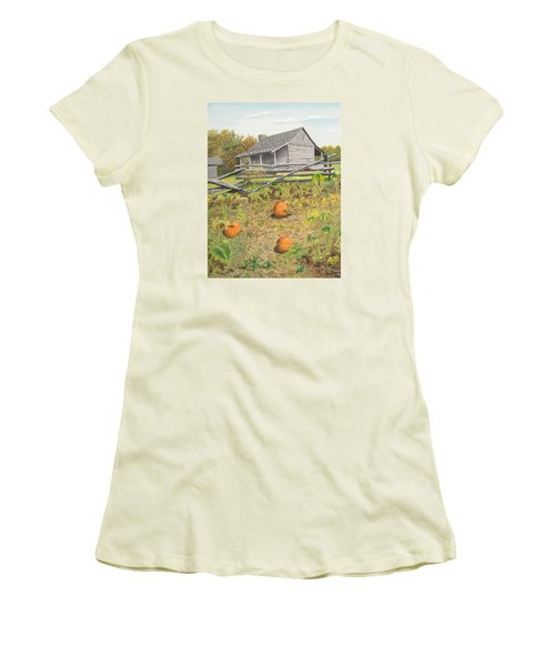 What's Left Of The Old Homestead Women's T-Shirt (Junior Cut) by Norm Starks