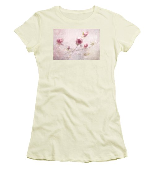 Women's T-Shirt (Junior Cut) featuring the photograph Whisper Of Spring by Annie Snel