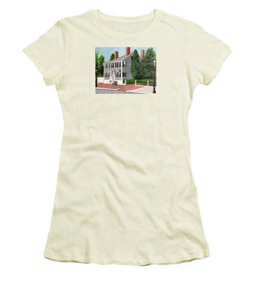 Women's T-Shirt (Junior Cut) featuring the painting Whistler House by Cynthia Morgan