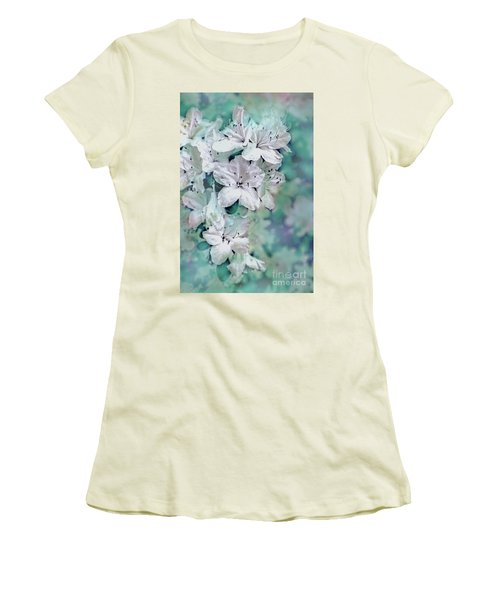 White Azaleas Women's T-Shirt (Junior Cut) by Sandy Moulder