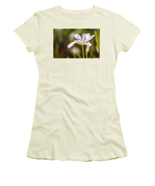 White Beardless Iris Women's T-Shirt (Athletic Fit)