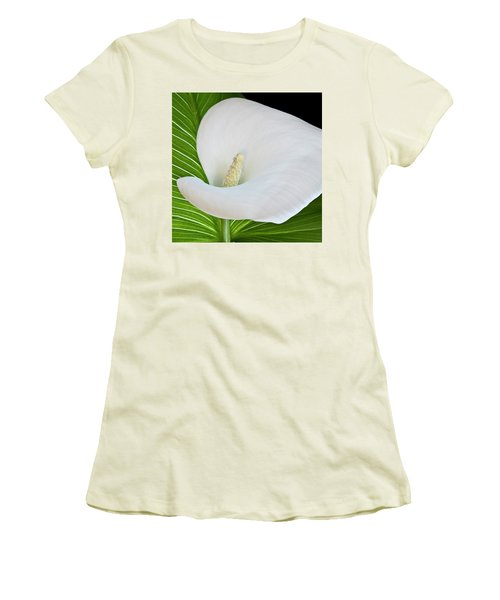 White Calla Women's T-Shirt (Athletic Fit)