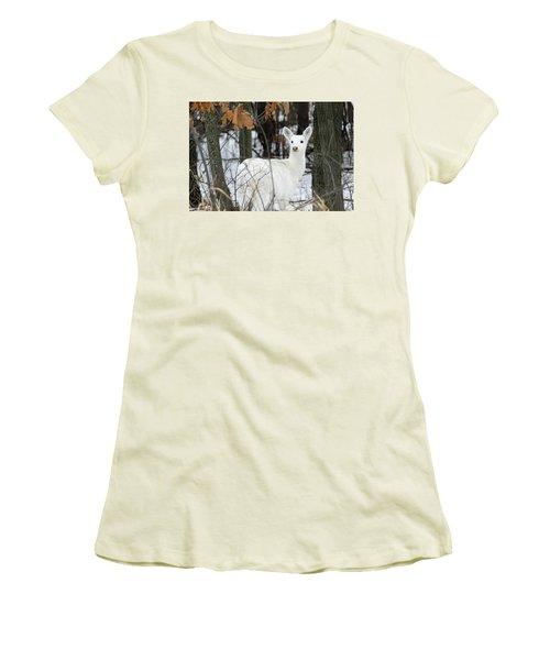 White Deer Vistor Women's T-Shirt (Athletic Fit)