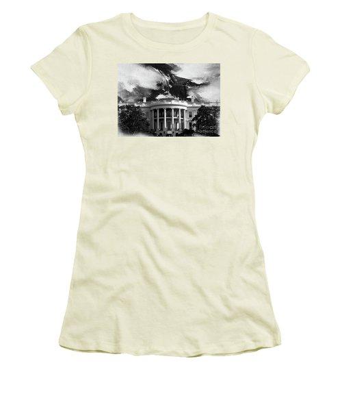 White House 002 Women's T-Shirt (Junior Cut) by Gull G