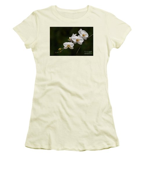 White Orchids Women's T-Shirt (Athletic Fit)